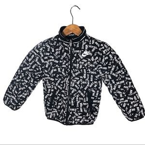 Nike Boys 5-6 Pattern Insulated Puffer Jacket